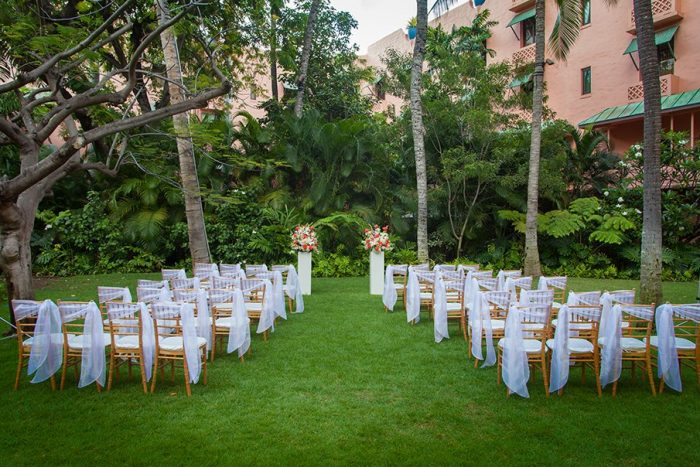 Moana surfrider resort destination wedding packages moana surfrider example ceremony setup junglespirit Images