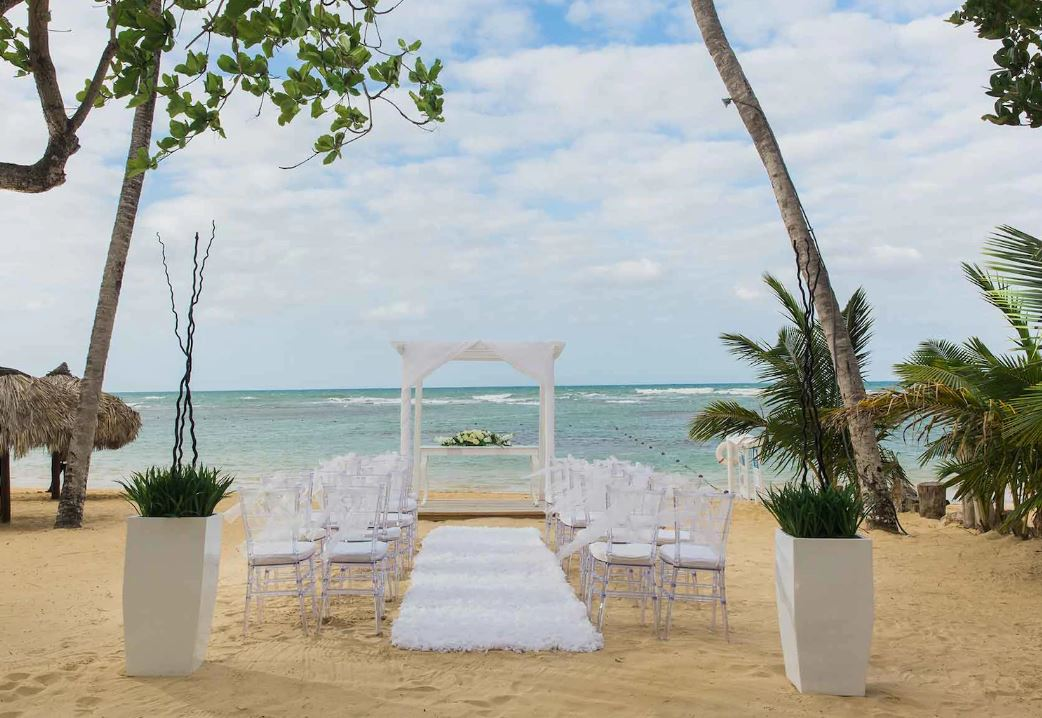 Beachfront White Wedding