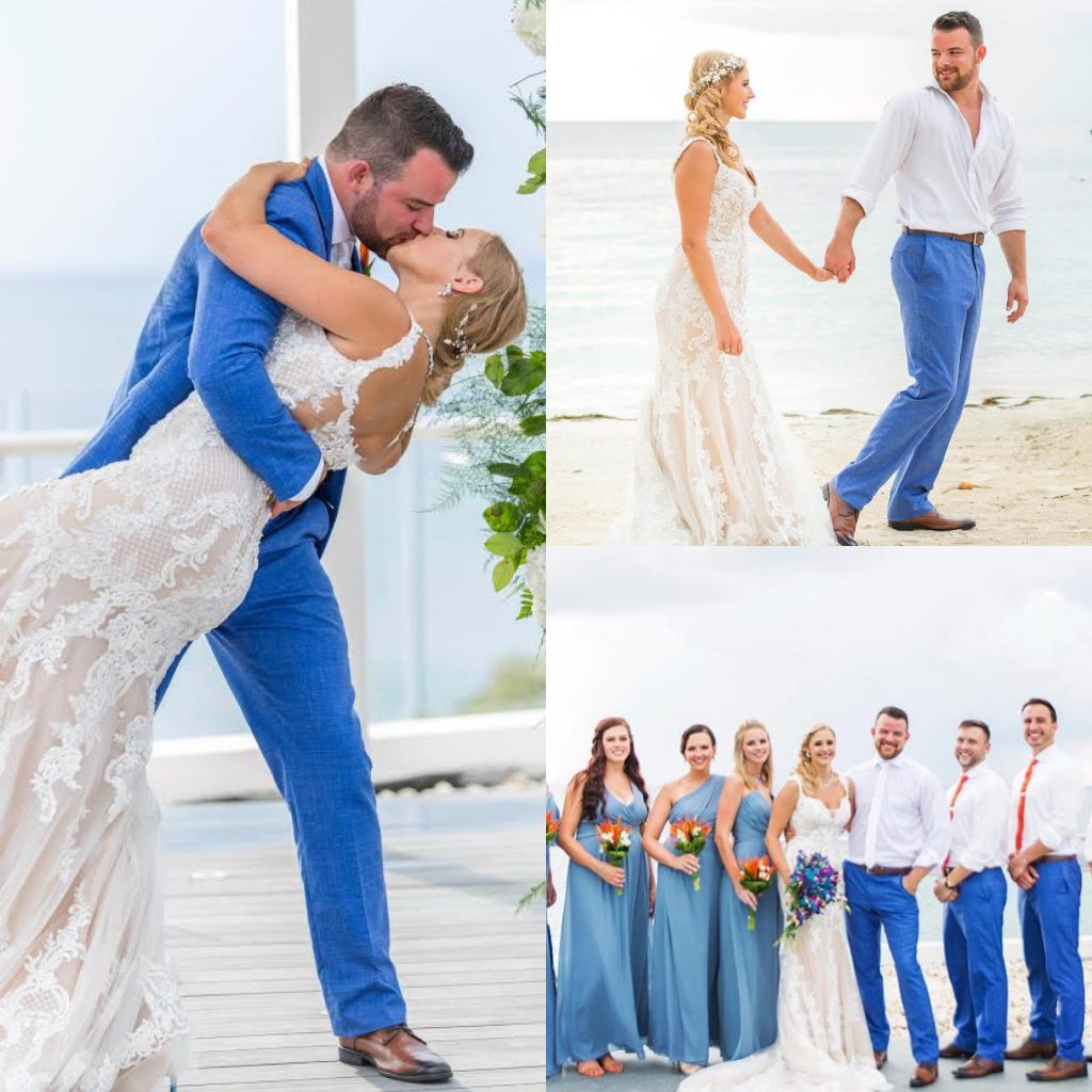 Couple S Wedding Ceremony And Reception Held At The Beach: Jenia And Kyle's Wedding At AZUL Beach Resort Negril