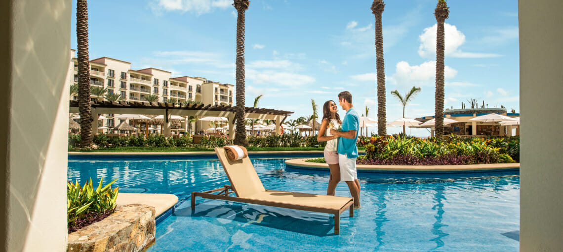 5 mexico resorts you can get to quickly from LAX hyatt ziva los cabos swimups
